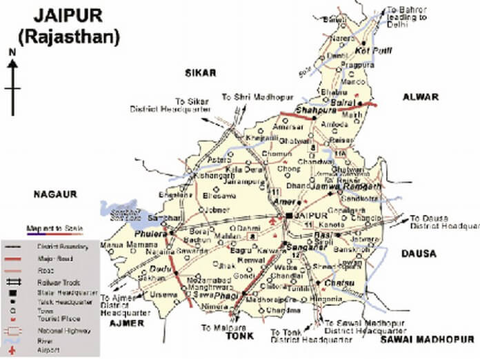 Jaipur Location Details Information Geographical Jaipur Located