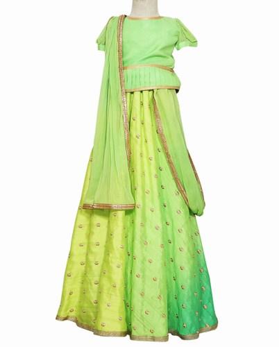 Jaipur Green Baby Girl Party wear Lehenga Choli