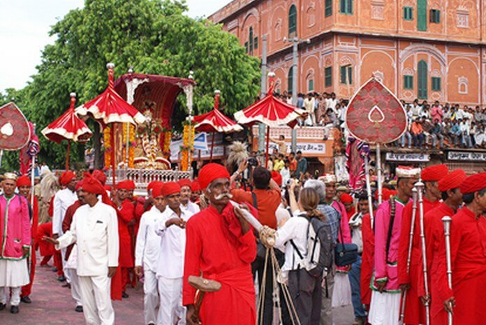 Celebration of Teej Festival jaipur, Rajasthan