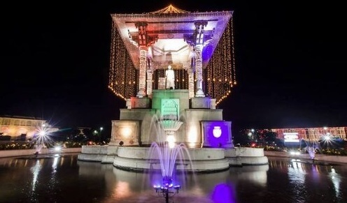 famous Statue Circle at night jaipur