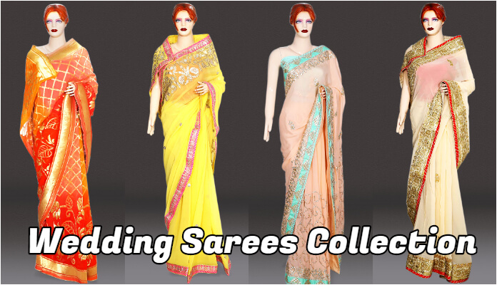 Buy wedding Sarees in Jaipur Bandhej, Lehariya, Jaipur Gota Patti Sarees