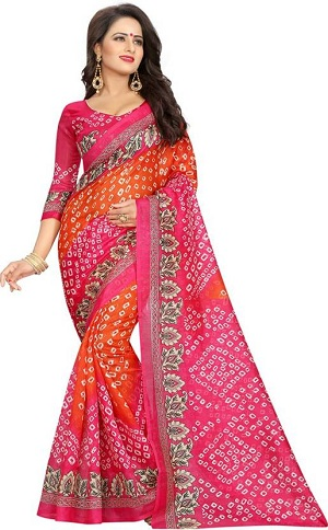 Traditional Bandhani or Bandhej Sarees Jaipur