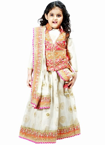 Jaipur Gota Patti Work Baby Girl Designer Lehenga