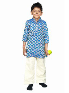 Blue Childrens Kurta Pyjama Set for Wedding Jaipur - baby boy traditional dress