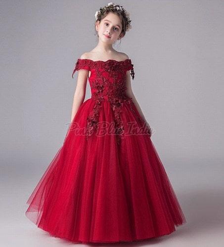 लड़की की पार्टी वियर फूल की पोशाक