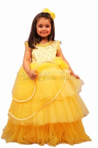 गर्ल रफल पार्टी वियर ड्रेस, बच्चों के कपड़े जयपुर