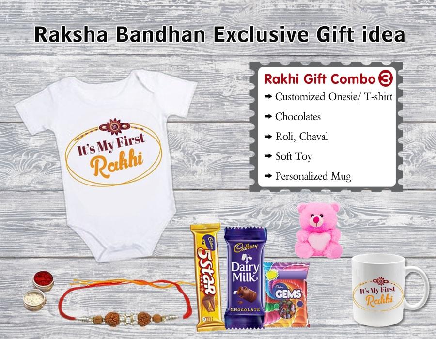 Designer Rakhi Gift Hampers Online for babies from Jaipur