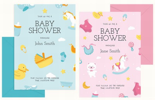 Printable Baby Shower Invitation Card for Girls and Boy in Jaipur