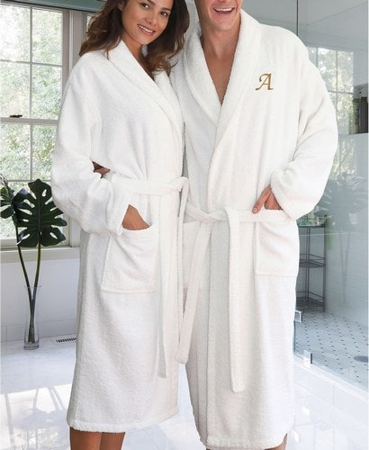 Luxury Bathrobe Mom and Dad Robes Personalized Gift Jaipur