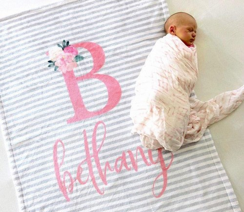 Personalized Baby Blankets with Names and Pictures, Jaipur Cotton Blanket/ Quilt