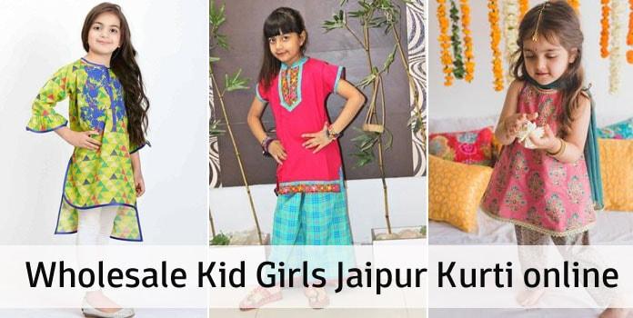 Wholesale Kid Girls Jaipur Kurti Online at Low Price