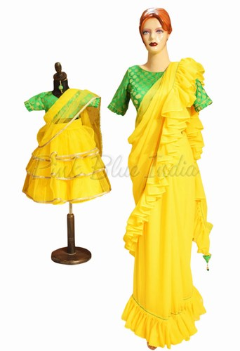 mother daughter traditional dresses India, mom and baby dresses, kids frocks