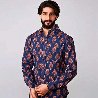 Jaipur Hand Block Printed Shirts, Block Printed Shirts