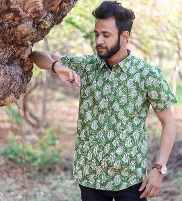 Sanganeri Print Shirts in Jaipur, Sanganeri Mens Printed Cotton Shirt